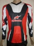 Футболка ALPINESTARS WHITE RED BLACK #3